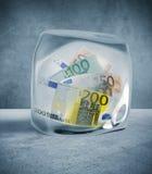 Preis und Geldfrost Lizenzfreies Stockfoto