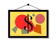 Preis und Wert der Kunst und der Grafik Stockfotos