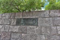 Preisangabe im Franklin- Delano Rooseveltdenkmal Stockfotos