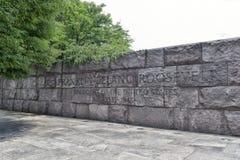 Preisangabe im Franklin- Delano Rooseveltdenkmal Lizenzfreie Stockbilder