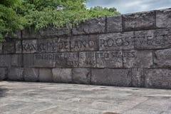 Preisangabe im Franklin- Delano Rooseveltdenkmal Stockbild