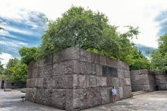 Preisangabe im Franklin- Delano Rooseveltdenkmal Lizenzfreies Stockfoto