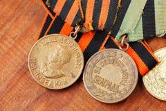 Preise der UDSSR Bestellungen des großen patriotischen Krieges Stockfotos