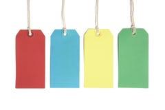 Preise oder Gepäckkennsätze Stockfoto