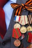 Preise und Medaillen Stockfotos