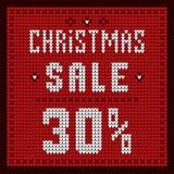 Preislisten, Rabattschablone Blau des Weihnachtsangebot-Rabattes 30 Stockbild