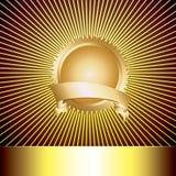 Preismedaille mit mit Luxuxhintergrund Stockfoto