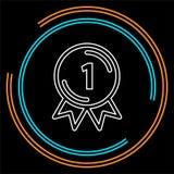 Preissieger - Erstplatz- Preis, Vektorwettbewerbsausweis lizenzfreie abbildung