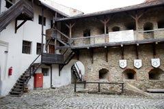 Prejmer筑了堡垒于教会 免版税库存图片