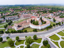 Prejmer anglosaxarekyrka, Transylvania, Rumänien royaltyfria bilder