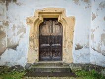 Prejmer Church door stock photo