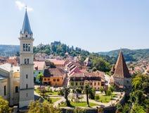 Prejmer a enrichi l'église, comté de Brasov, la Transylvanie, Roumanie photos libres de droits