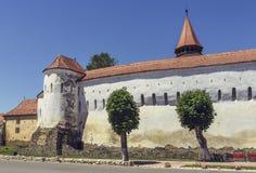 Prejmer a enrichi l'église, Roumanie Images stock