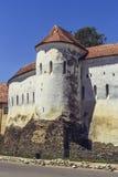 Prejmer a enrichi l'église, Roumanie Photo stock