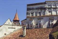 Prejmer fortificou a igreja, Roménia Imagens de Stock Royalty Free