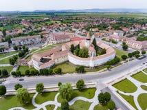 Prejmer sasa kościół, Transylvania, Rumunia obrazy royalty free