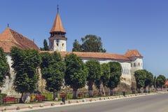 Prejmer stärkte kyrkan, Rumänien Fotografering för Bildbyråer