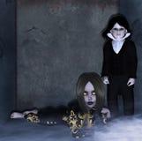 Prejuízo escuro ilustração stock