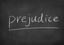 Prejudice. Concept word on a blackboard background Stock Photo