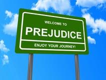 Prejudice on sign board Stock Photos