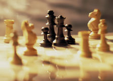 Prejudiced chess pieces Stock Images