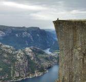 Prekestolen in Noorwegen Stock Afbeeldingen
