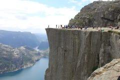 Prekestolen Norge Fotografering för Bildbyråer