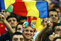 Preliminari della tazza di mondo 2014: L'Romania-Andorra Immagini Stock
