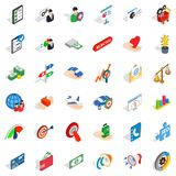 Preliminary count icons set, isometric style. Preliminary count icons set. Isometric set of 36 preliminary count vector icons for web isolated on white Royalty Free Stock Photography