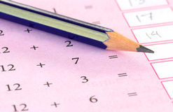 Preliminary mathematics Stock Images