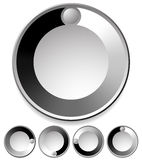 Preloader / Buffer Shapes, or Dials with Knobs Stock Images