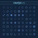 Futuristic design preloader spinner circles set stock illustration