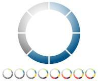 Preloader circular, ícone do indicador de progresso com 8 etapas Amortecedor s ilustração royalty free