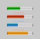 Preloaders and progress loading bars. Vector illustration Royalty Free Stock Photos