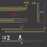 Preloaders and progress loading bars. Stock Image