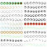 Preloading icons animation frames. 24 preloading icons animation frames isolated on white background. RGB EPS 10 vector elements set Stock Photos