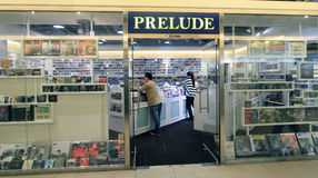 Prelude shop in hong kong. Prelude shop, located in Harbour City, Tsim Sha Tsui, Hong Kong. prelude sells music disc in Hong Kong Stock Image