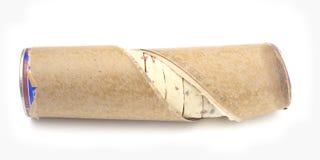 Premade Dough in a Cardboard Tube. Premade Cinnamon Roll Dough in a Cardboard Tube stock photo