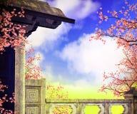 Premade-Rippenstück-Hintergrund Stockfoto