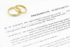 premarital προγαμιαίος συμφωνία&sigmaf Στοκ Φωτογραφία