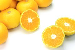 Premature delivery mandarin orange Royalty Free Stock Images
