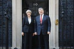 Premiärminister av Förenade kungariket Theresa May Arkivbild
