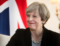 Premiärminister av Förenade kungariket Theresa May Royaltyfria Foton