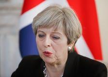 Premiärminister av Förenade kungariket Theresa May Royaltyfria Foton