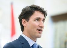Premiärminister av Kanada Justin Trudeau Arkivfoto