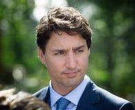 Premiärminister av Kanada Justin Trudeau arkivbilder