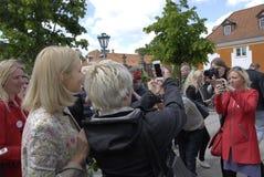 PREMIÄRMINISTER PÅ HENNES OMVAL COMPAIGN Royaltyfri Fotografi