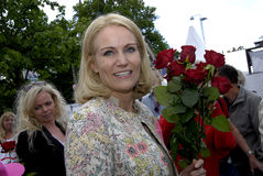 PREMIÄRMINISTER PÅ HENNES OMVAL COMPAIGN Royaltyfria Bilder