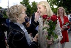 PREMIÄRMINISTER PÅ HENNES OMVAL COMPAIGN Royaltyfria Foton