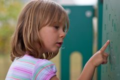 Première éducation Photos stock